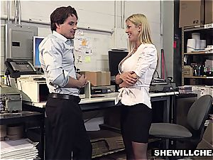 SheWillCheat - huge-chested cougar boss smashes new worker