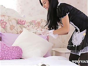 ultra-kinky maid serves the young sir supreme