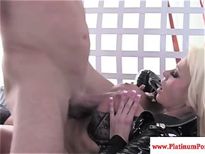 Nikita Von James gets mouthful of jizz after screwing