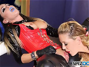 Minge munchers Jessica Jaymes and Cherie Deville get insane on this space mission