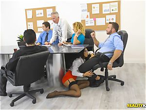 Office bang with the secretary Aubrey Rose who happens to be the bosses daughter