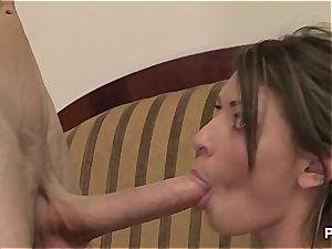 Victoria Lawson banging a humungous spunk-pump