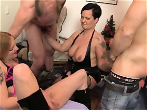 REIFE SWINGER - molten Xmas four way with German swingers