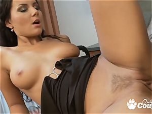 epic brown-haired Nataly banged by firm manstick