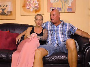 fuck-a-thon gauze GERMANY - tatted new-comer in sizzling German pulverize