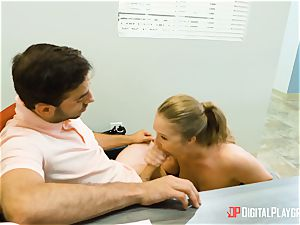 Lena Paul craves some ample rock hard man meat in her warm cootchie
