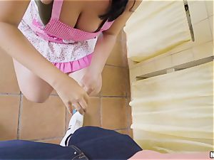 fuck-stick craving spanish honey Claudia Bavel kitchen ravage