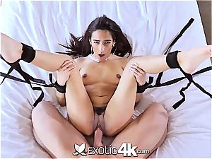 Exotic4k latin Adrian Hush tied up tear up and creampie
