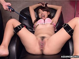 yelling japanese superslut getting her wetting humid coochie toyed