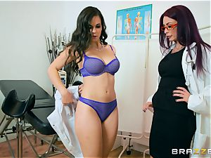 Monique Alexander and Nekane minge lick at the clinic