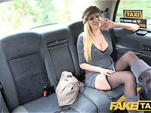 fake taxi chesty ash-blonde milf Amber Jayne deep-throats and boinks