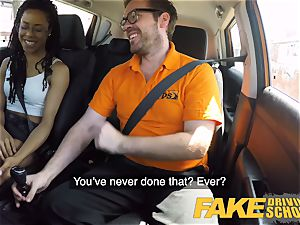 fake Driving school ebony yankee minx Kira Noir