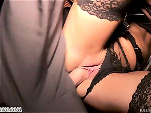 Romi Rain - incredible sizzling first-timer porno in the street