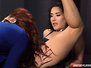 cootchie eating galore with super-naughty Jayden Cole and Eva Lovia