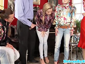 peeing and fisting groupsex with Bella Baby