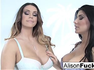 Alison and Romi pummel for the first time