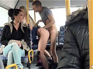 Lindsey Olsen pummels her boy on a public bus