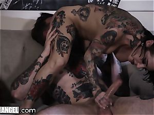 infatuating inked In-Laws passionately fucking