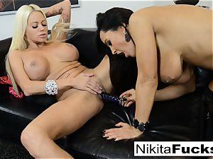 super-hot Russian Nikita Von James romps pornography vet Lisa Ann