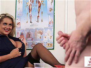 CFNM voyeur nurse teaching jerkoff