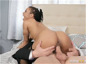 Kira Noir bouncing on a manhood