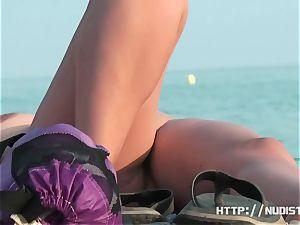 A thrilling nude beach hidden cam spy webcam flick