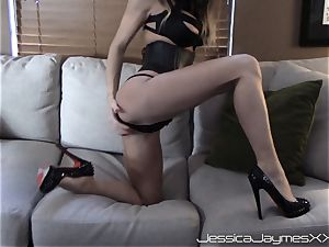 Jessica Jaymes cam demonstrate teases and gets a humungous explosion of cum in the face