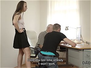 DADDY4K. dad and youthfull lady molten fuck-fest in bed culminates with internal ejaculation