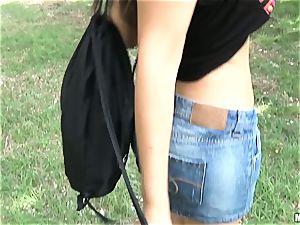 Valentina Nappi penetrates for money outdoors
