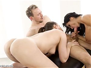red-hot orgy with a buxom porno star Ava Addams and Casey Calvert