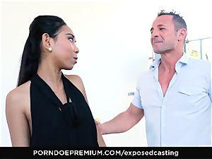 exposed casting - chinese babe enjoys red-hot FFM threeway