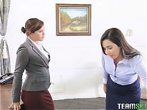 Keisha Grey flashing Karlee Grey whose chief