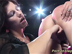 lesbian pornography demonstrate in stage