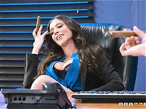 butt pummeling cougar Ariella Ferrera in the office