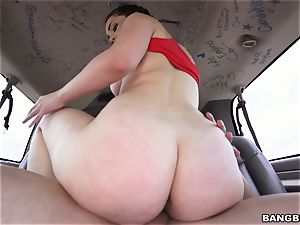 sexy brunette picked up and torn up
