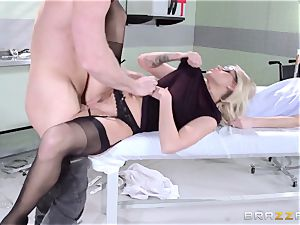 warm physician Jessa Rhodes checks out this huge man meat