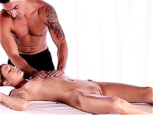 cool Maci groped down before her sweet puss is ravaged