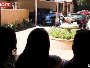 LETSDOEIT - horny teenagers Scam Their huge shaft Neighbor