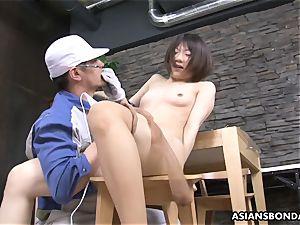 Masturb chinese babe with fucktoy and enjoy