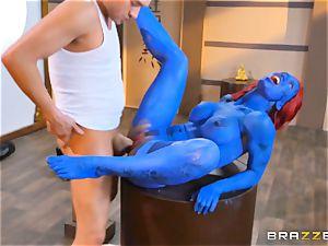 Blue sweetheart Nicole Aniston threeway