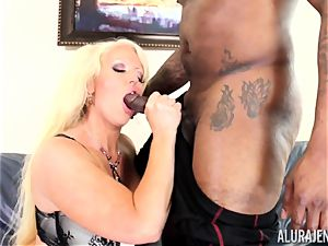 phat big black cock Alura Jenson crammed deep