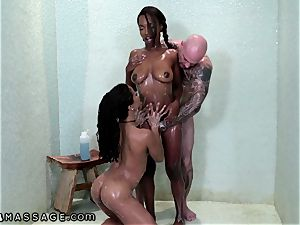 dad Gets nubile masseuse Kira Noir
