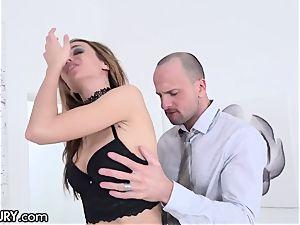 21Sextury teaching Hazel Dew's Gape to Take phat cocks